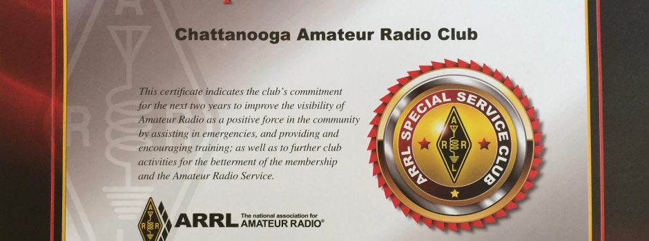 You Did It!  ARRL Special Service Club Honor