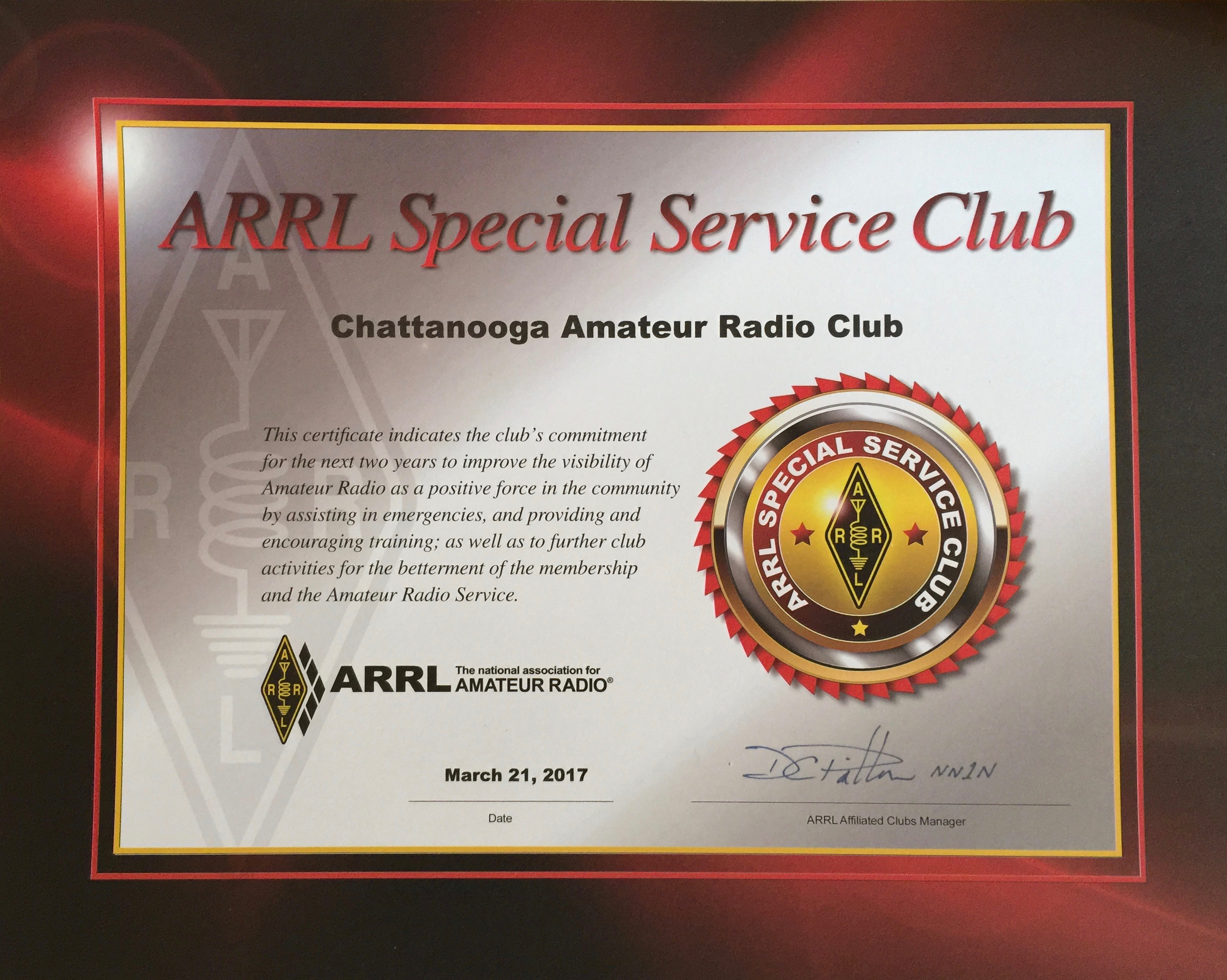 CARC ARRL Special Service Club